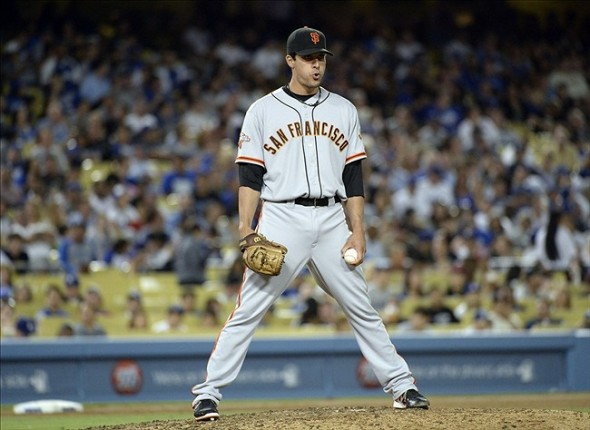 Javier Lopez of the San Francisco Giants