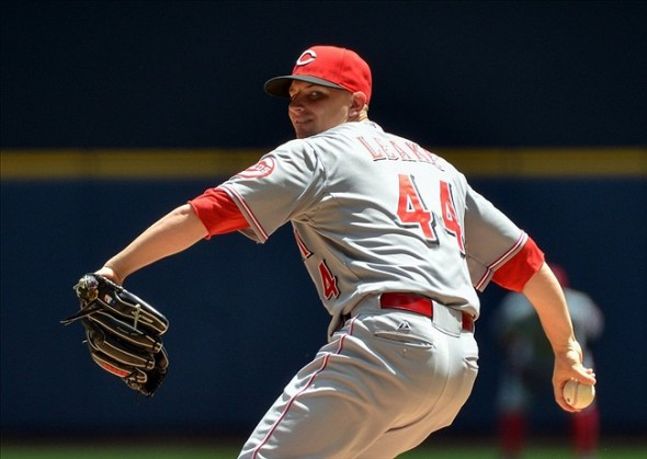 Mike Leake of the Cincinnati Reds