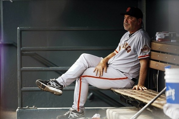 Bruce Bochy of the San Francisco Giants