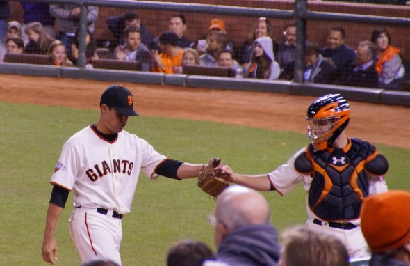 Javier Lopez of the San Francisco GiantsPhoto by Denise Walos