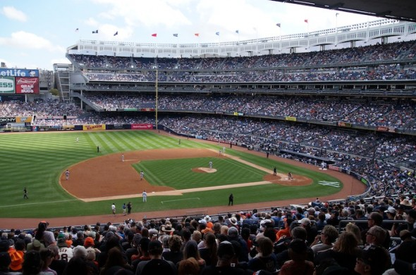 A beautiful ballpark Yankee Stadium. Photo by Denise Walos on 9/21/13