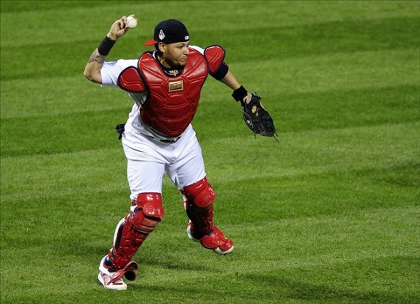 Yadier Molina of the St. Louis Cardinals