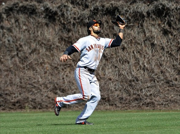 Angel Pagan, in center field for the San Francisco Giants