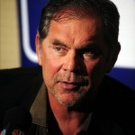 Dec 10, 2013; Orlando, FL, USA; San Francisco Giants manager Bruce Bochy talks during the MLB Winter Meetings at the Walt Disney World Swan and Dolphin Resort. Mandatory Credit: David Manning-USA TODAY Sports