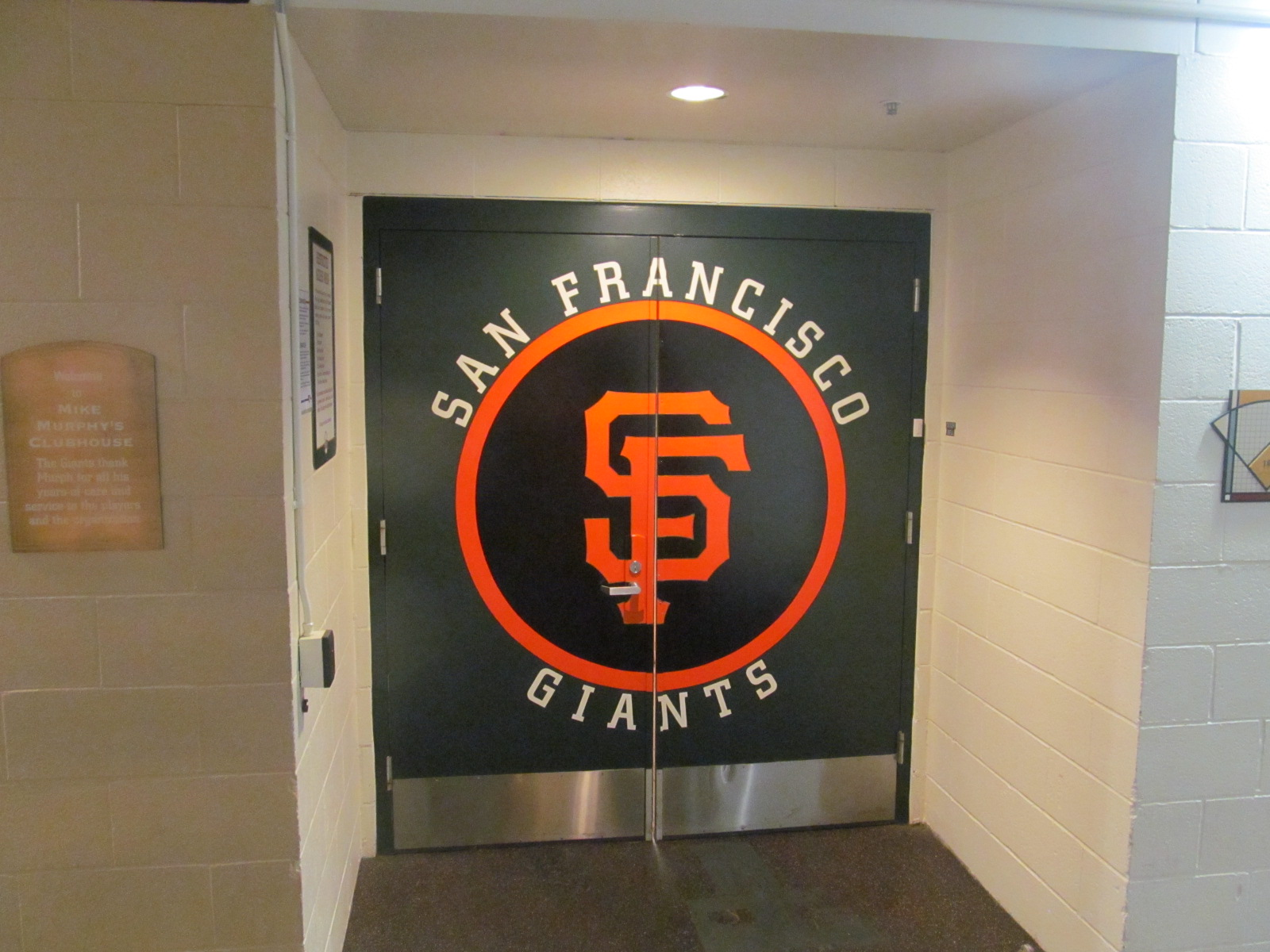 Entrance to Giants Clubhouse