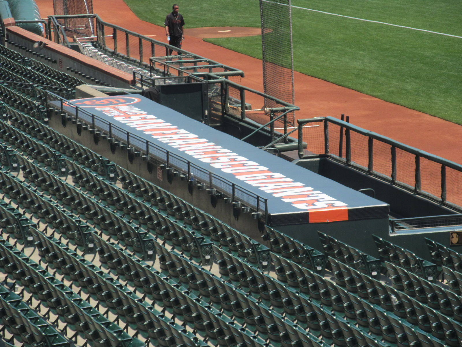 Giants Dugout. View from the pressbox