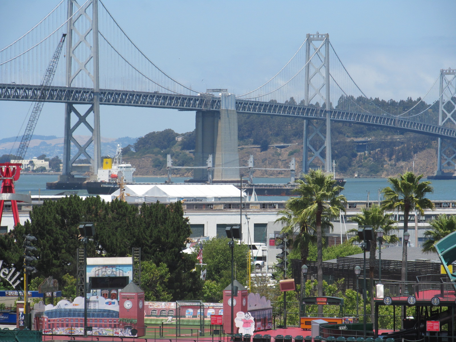 View of the Bay Bridge, from Bennetts suite