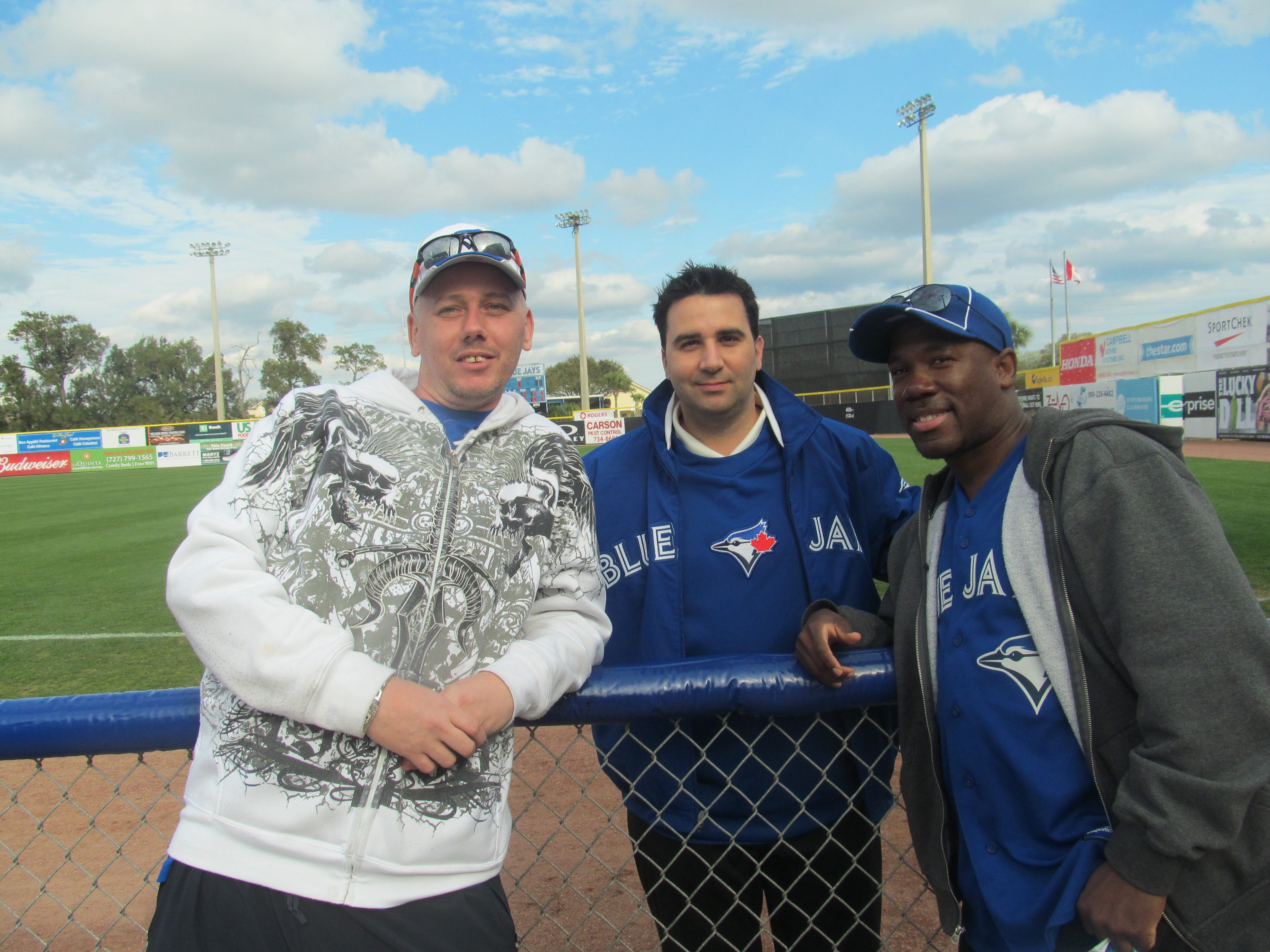 My friend Jemel and I posing with Bluejays GM Alex Anthopoulos
