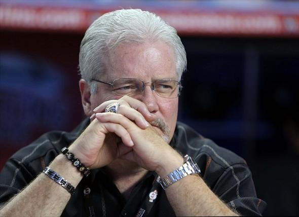 Brian Sabean of the San Francisco Giants