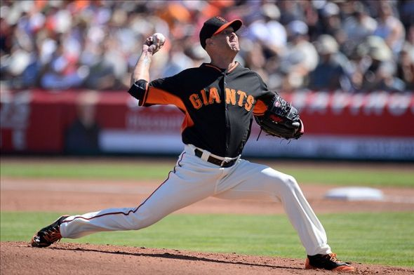 Tim Hudson of the San Francisco Giants