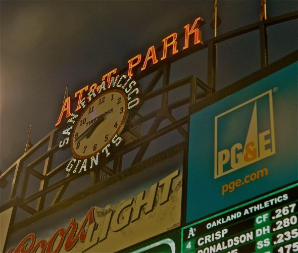 AT&T Park, where the San Francisco Giants and Madison Bumgarner play.