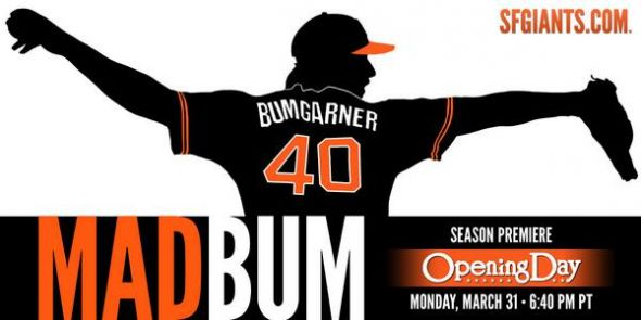 Bumgarner Opening Day - Photo courtesy of @SFGiants on Twitter.