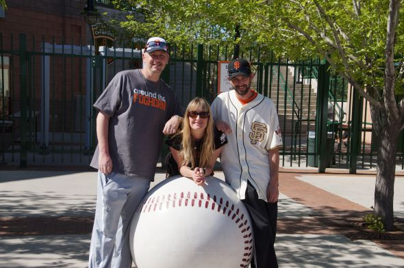 Chris, Denise, Eric from ATF staff saying goodbye to Scottsdale Stadium.