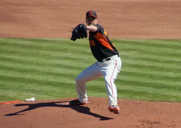 Ryan Vogelsong in the 1st inning of the Giants vs. Mariners on March 8, 2014