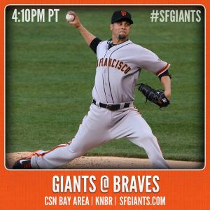 Giants @ Braves - photo courtesy of SFGiants Facebook page.