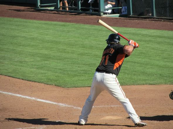 Mark Minicozzi, 2014 Spring Training, Scottsdale Stadium, Scottsdale, AZ, photo by Fred Hickethier
