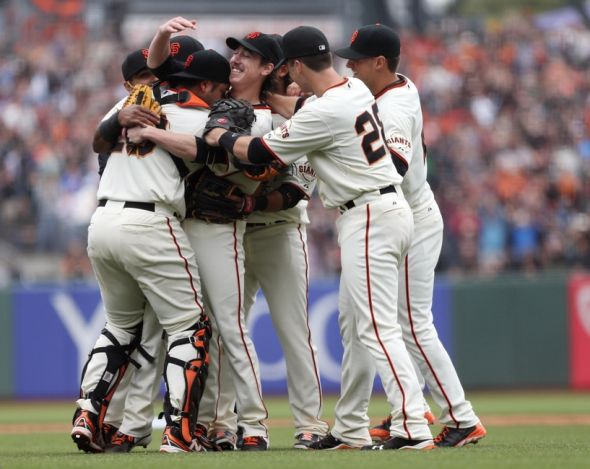 Tim Lincecum pitches a no-hitter for the San Francisco Giants.