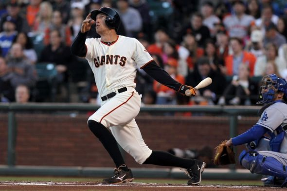 Hunter Pence of the San Francisco Giants