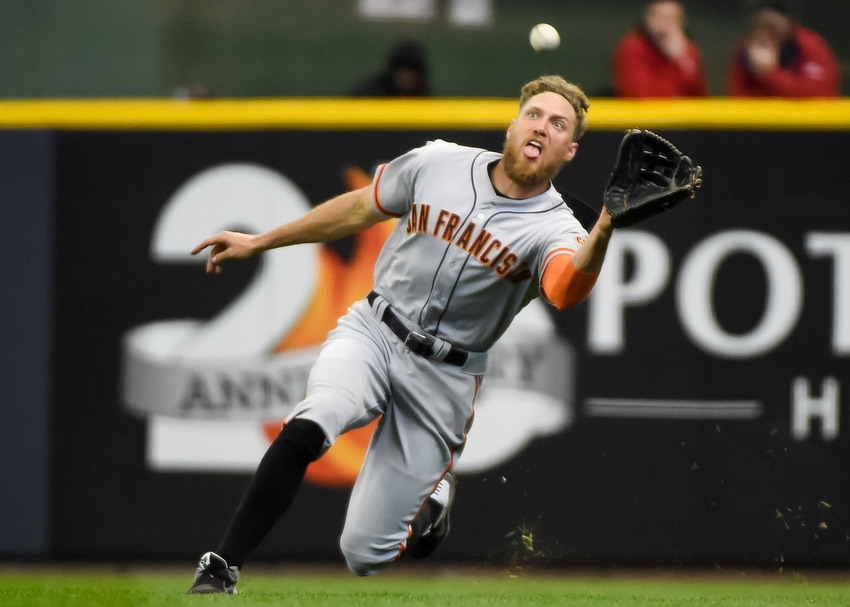 Aaron-hill-hunter-pence-mlb-san-francisco-giants-milwaukee-brewers