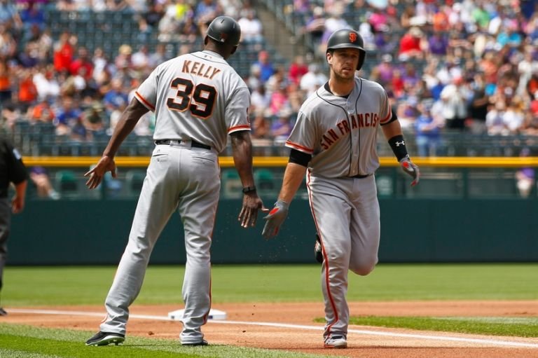 Roberto-kelly-buster-posey-mlb-san-francisco-giants-colorado-rockies-768x511