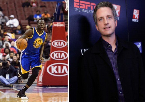 Draymond Green is unhappy with Bill Simmons. (Howard Smith / USA TODAY)