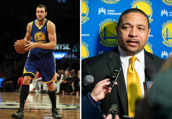 "Mark Jackson accused the media of ""twisting his words"" about Andrew Bogut's injury. Photos: Russ Isabella and Brad Penner / USA TODAY Sports"
