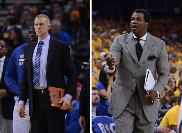 Brian Scalabrine and Peter Myers reportedly had an altercation before Scalabrine was reassigned. (Photos: Kyle Terada / USA TODAY Sports)