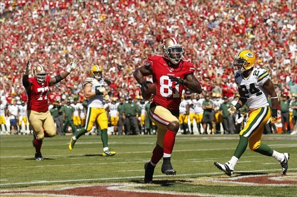 NFL: Green Bay Packers at San Francisco 49ers. Wide receiver Anquan Boldin (81) runs for a touchdown. Mandatory Credit: Cary Edmondson-USA TODAY Sports