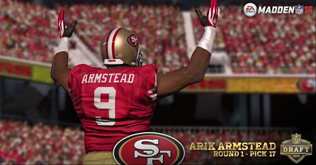 nfl San Francisco 49ers Arik Armstead GAME Jerseys