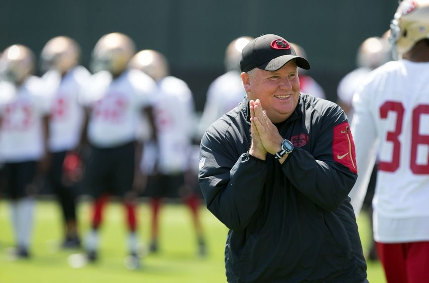 Jun 8, 2016; Santa Clara, CA, USA; San Francisco 49ers head coach Chip Kelly during minicamp at the San Francisco 49ers Practice Facility. Mandatory Credit: Kelley L Cox-USA TODAY Sports