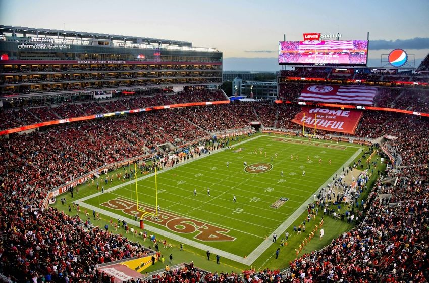 Sep 12, 2016; Santa Clara, CA, USA; A general view of Levi's Stadium during an NFL game between the San Francisco 49ers and the Los Angeles Rams. Mandatory Credit: Kirby Lee-USA TODAY Sports