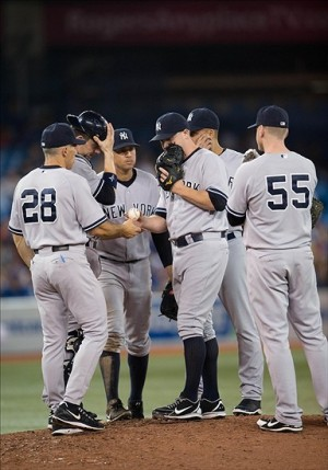 For Joe Girardi, its all hands on deck for the Yankees as they make one last push for the playoffs, starting in Toronto on Tuesday. (Photo Credit: Nick Turchiaro-USA TODAY)