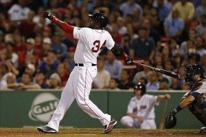 Will David Ortiz be plunked this weekend from the A-Rod incident last series or will he bomb home runs over the Yankee Stadium fence? (Photo Credit: Greg M. Cooper-USA TODAY Sports)