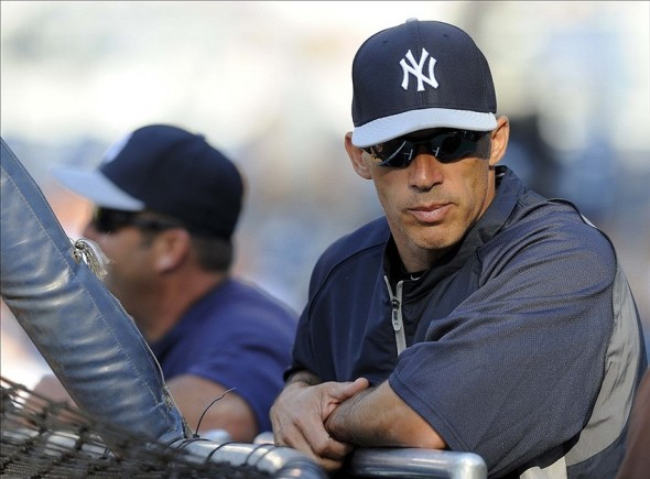New York Yankees manager Joe Girardi. Mandatory Credit: Christopher Hanewinckel-USA TODAY Sports