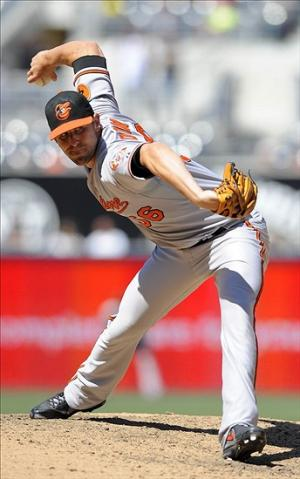 Aug 7, 2013; San Diego, CA, USA; Baltimore Orioles relief pitcher Darren O
