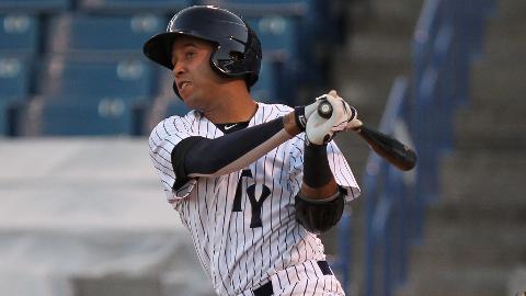Yankees prospect Cito Culver could prove critics wrong with a strong 2014 at shortstop. Mandatory Credit: Mike LoMoglio/MILB.com