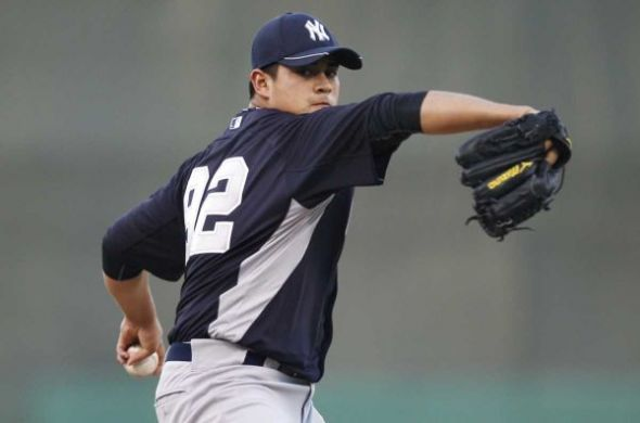 Yankees' pitching prospect Manny Banuelos. Mandatory Credit: USA TODAY SPORTS