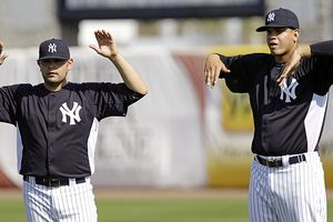 Once untouchable Yankees prospects Manny Banuelos and Dellin Betances. Mandatory Credit: Charlie Neibergall/AP