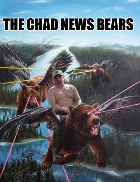 Chad R. MacDonald and his News Bears.