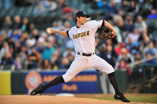 Eastern League Pitcher of the Week, Bryan Mitchell. Mandatory Credit: Trenton Thunder Official Facebook page.