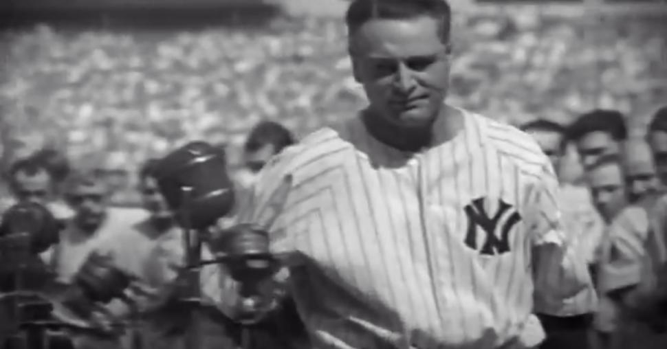 a rhetorical analysis of lou gehrigs luckiest man speech The image of lou gehrig saying farewell to yankees fans, his head bowed as   gehrig's 274-word speech that day -- the words of a man who likely knew  how  someone dying could say he was the luckiest man in the world.
