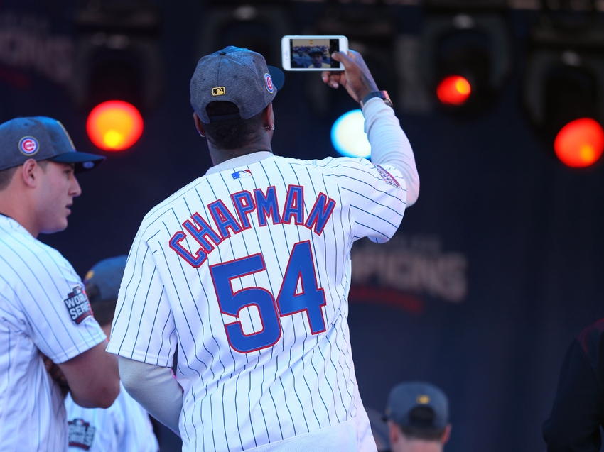 Why did the cubs allow chapman to go back to the yankees