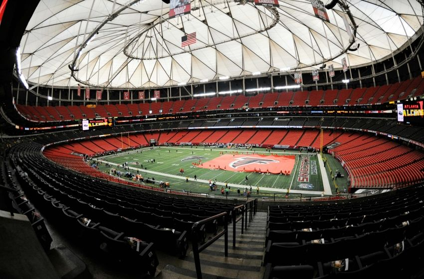 Atlanta falcons tour of new and improved stadium for Mercedes benz superdome tours
