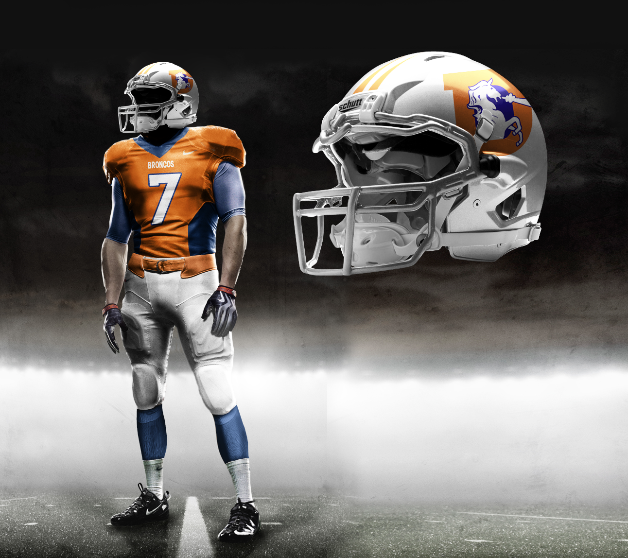 posting a photo of what the broncos uniform looked like