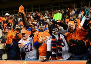 Broncos fans in the grandstands against the Baltimore Ravens during the AFC divisional round playoff game at Sports Authority Field. (Mark J. Rebilas-USA TODAY Sports)