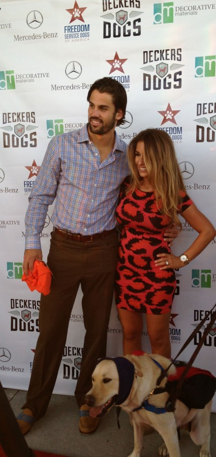 Eric and Jessie at the launch of their foundation, Deckers Dogs.