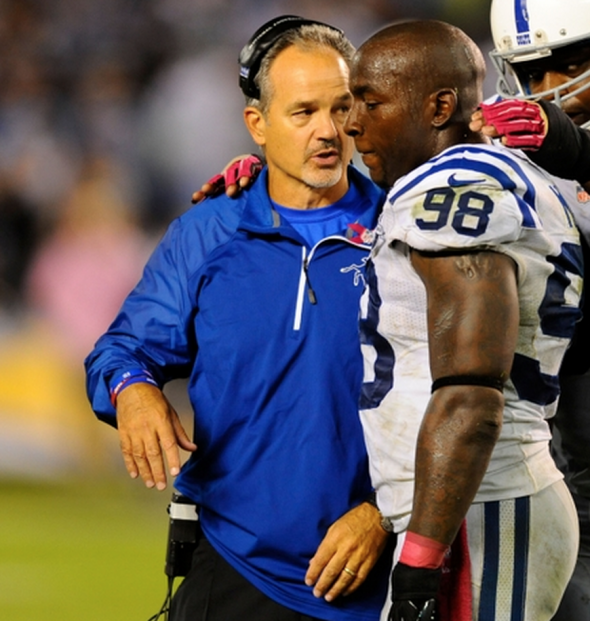 San Diego Chargers Head Coaches: Injury Update: Robert Mathis Will Be A Gametime Decision