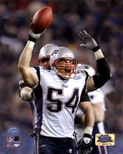 Tedy-Bruschi---Super-Bowl-XXXIX---celebrating-his-4th-quarter-interception-Photograph-C12876494