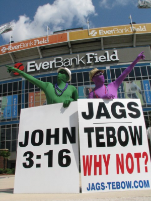 """Why not Tim Tebow?"" says Jacksonville Jaguar fans"
