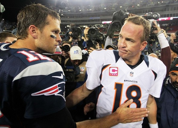 Patriots QB Tom Brady and Broncos QB Peyton Manning